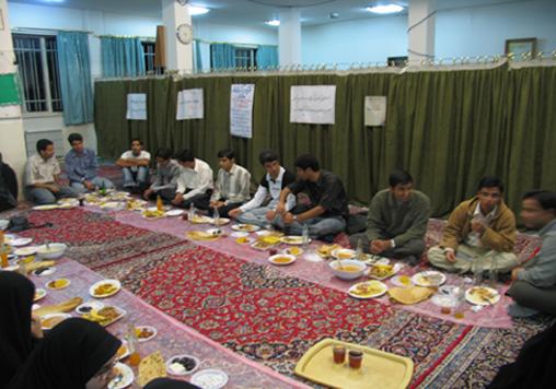 مراسم افطاری موسسه